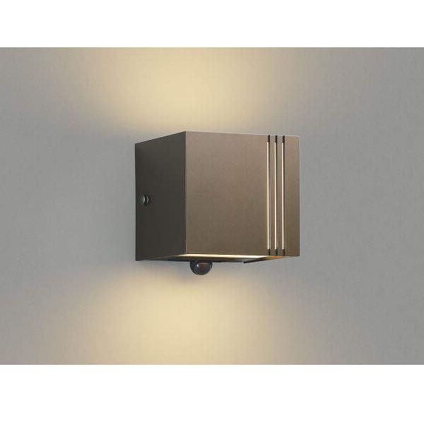 コイズミ ポーチ灯 マルチタイプ 上下面照射 AU45803L 人感センサ付 『ブラケットライト エクステリア照明 ライト』 ブラウンメタリック
