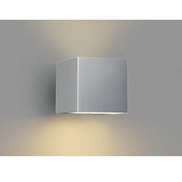 コイズミ ポーチ灯 下方照射 AU42371L 『ブラケットライト エクステリア照明 ライト』 シルバーメタリック