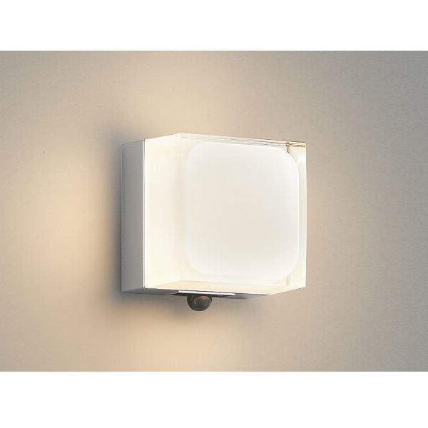 コイズミ ポーチ灯 マルチタイプ AU45867L 人感センサ付 『ブラケットライト エクステリア照明 ライト』 シルバーメタリック