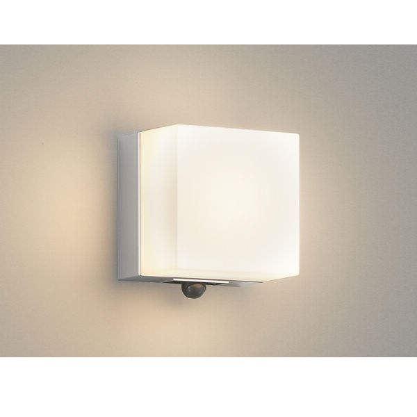 コイズミ ポーチ灯 マルチタイプ AU45875L 人感センサ付 『ブラケットライト エクステリア照明 ライト』 シルバーメタリック