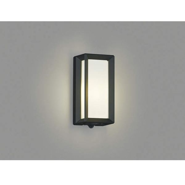 コイズミ ポーチ灯 タイマー付ON/OFFタイプ AU40407L 人感センサ付 『ブラケットライト エクステリア照明 ライト』 黒色