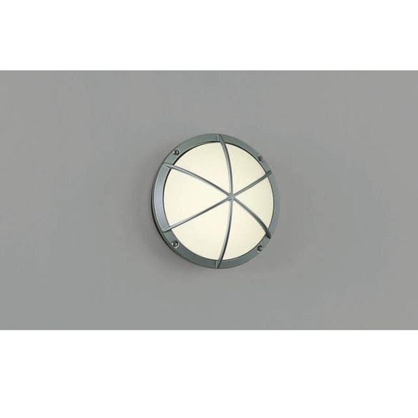 コイズミ ポーチ灯・勝手口灯 AU38606L 『ブラケットライト エクステリア照明 ライト』 シルバーメタリック