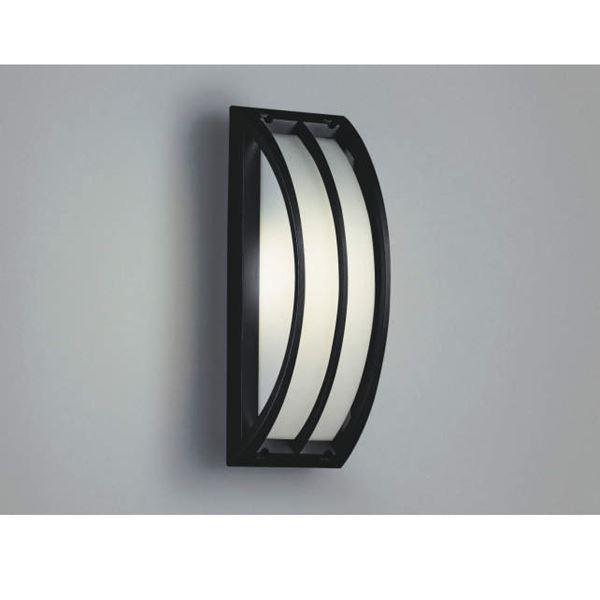 コイズミ ポーチ灯・勝手口灯 直付・壁付・門柱取付 AU42353L 『ブラケットライト エクステリア照明 ライト』 黒色