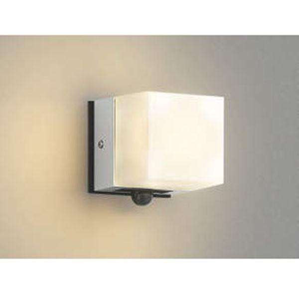 コイズミ 勝手口灯 マルチタイプ AU42318L 人感センサ 『ブラケットライト エクステリア照明 ライト』 シルバーメタリック