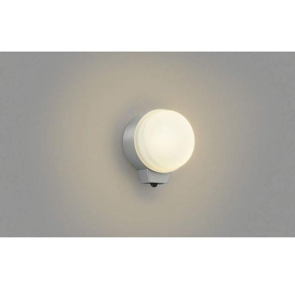 コイズミ 勝手口灯 マルチフラッシュタイプ AU38540L 人感センサ 『ブラケットライト エクステリア照明 ライト』 シルバーメタリック