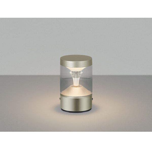 コイズミ ツインルックス  AU45493L  『門柱灯 エクステリア照明 ライト』 シルバーメタリック