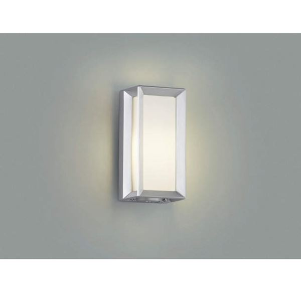 コイズミ 門柱灯 壁付・門柱取付 AU40411L 自動点滅器付 『門柱灯 エクステリア照明 ライト』 シルバーメタリック