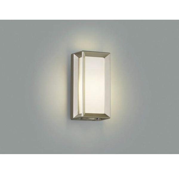 コイズミ 門柱灯 壁付・門柱取付 AU40412L 自動点滅器付 『門柱灯 エクステリア照明 ライト』 ウォームシルバー