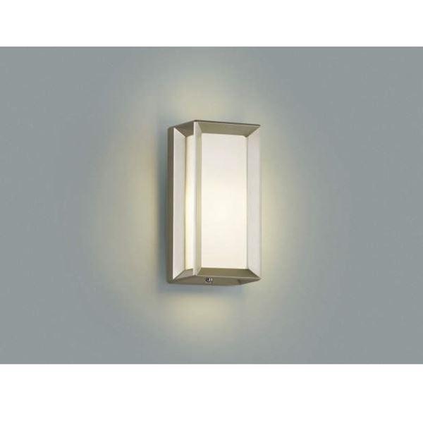 コイズミ 門柱灯 直付・壁付・門柱取付 AU40415L  『門柱灯 エクステリア照明 ライト』 ウォームシルバー