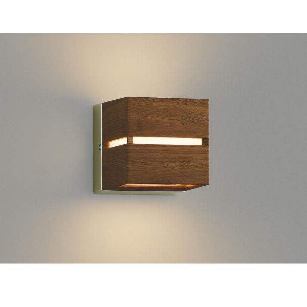 コイズミ 門柱灯 壁付・門柱取付 両面照射 AU45205L  『門柱灯 エクステリア照明 ライト』 ウォームブラウン