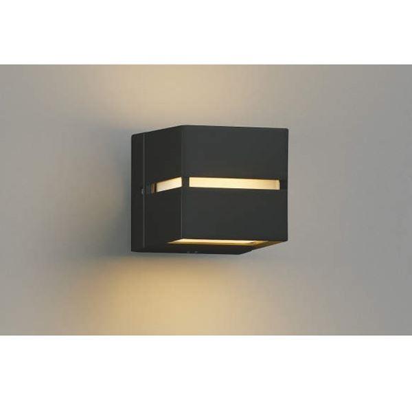 コイズミ 門柱灯 壁付・門柱取付 両面照射 AU35032L 自動点滅器付 『門柱灯 エクステリア照明 ライト』 黒色