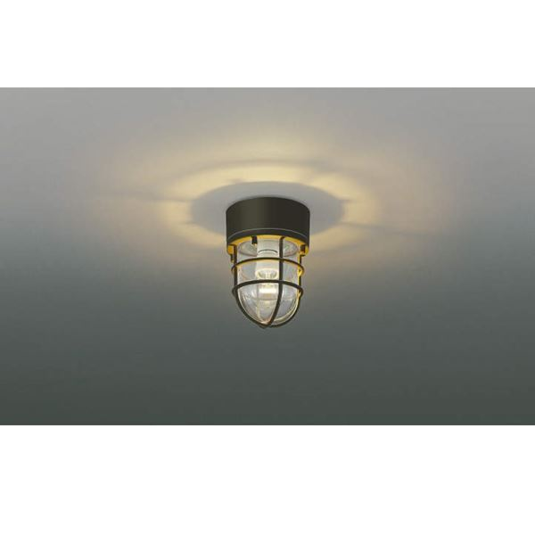 コイズミ 門柱灯 直付・壁付・門柱取付 AU38416L  『門柱灯 エクステリア照明 ライト』 茶色