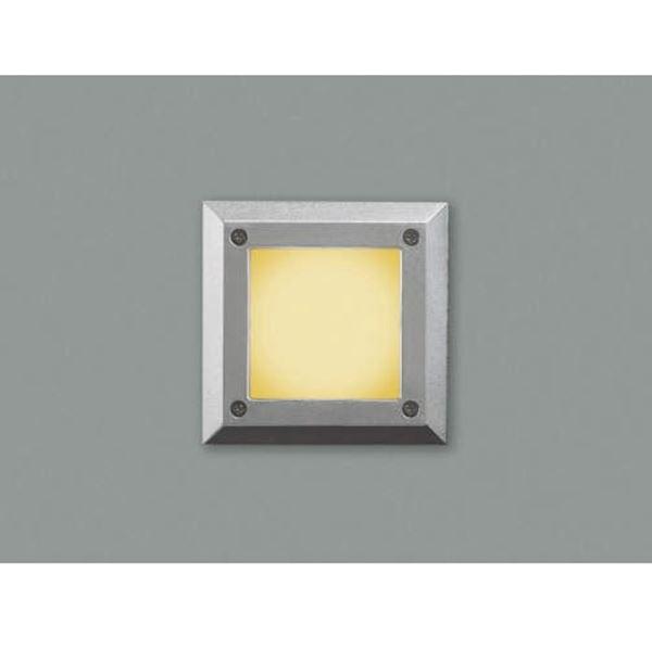 コイズミ フットライト  AU44102L  『フットライト エクステリア照明 ライト』 シルバーメタリック