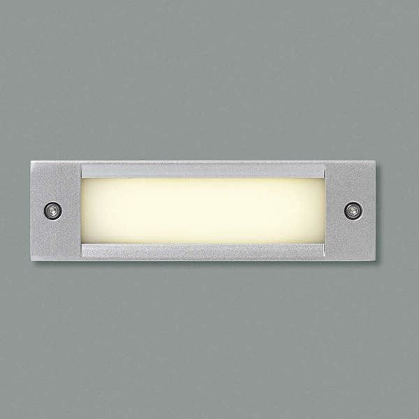 コイズミ フットライト  AU46984L  『フットライト エクステリア照明 ライト』 シルバーメタリック