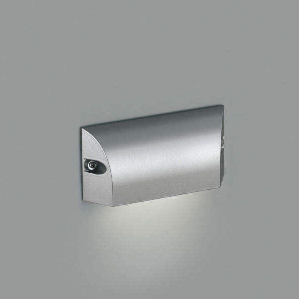 コイズミ フットライト  AU46893L  『フットライト エクステリア照明 ライト』 シルバーメタリック
