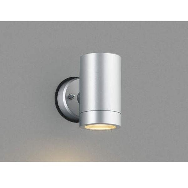 コイズミ フットライト  AU42385L  『スポットライト エクステリア照明 ライト』 シルバーメタリック