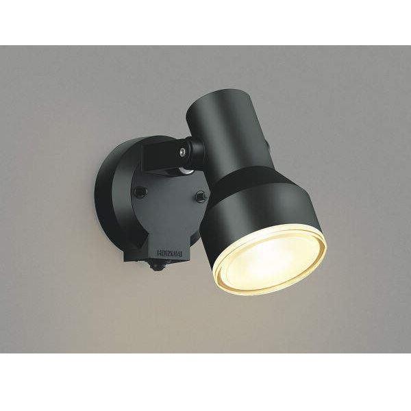 コイズミ フットライト タイマー付ON/OFFタイプ AU45239L 人感センサ付 『スポットライト エクステリア照明 ライト』 黒色