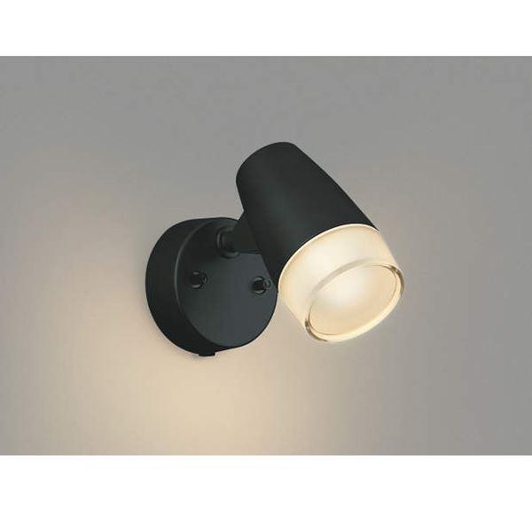 コイズミ フットライト 直付・壁付取付 AU40752L  『スポットライト エクステリア照明 ライト』 黒色