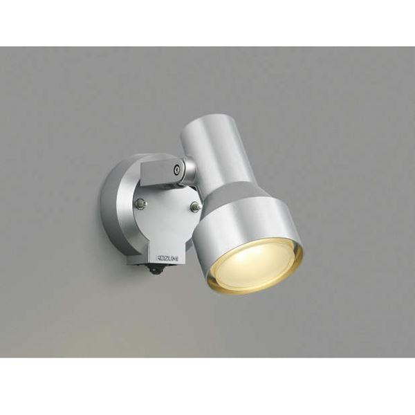 コイズミ フットライト タイマー付ON/OFFタイプ AU40623L 人感センサ付 『スポットライト エクステリア照明 ライト』 シルバーメタリック