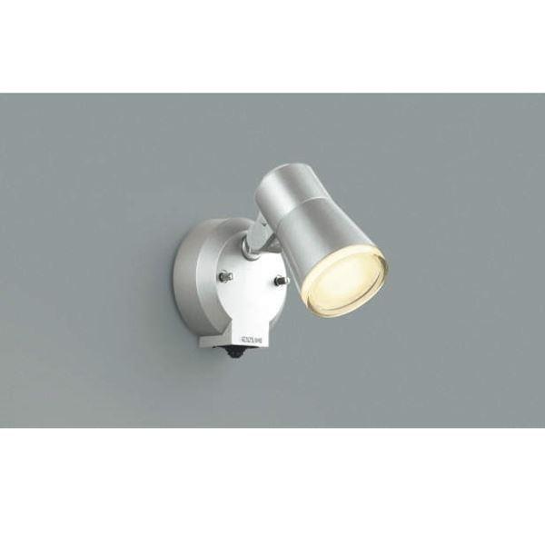 コイズミ フットライト タイマー付ON/OFFタイプ AUE640555 人感センサ付 『スポットライト エクステリア照明 ライト』 シルバーメタリック