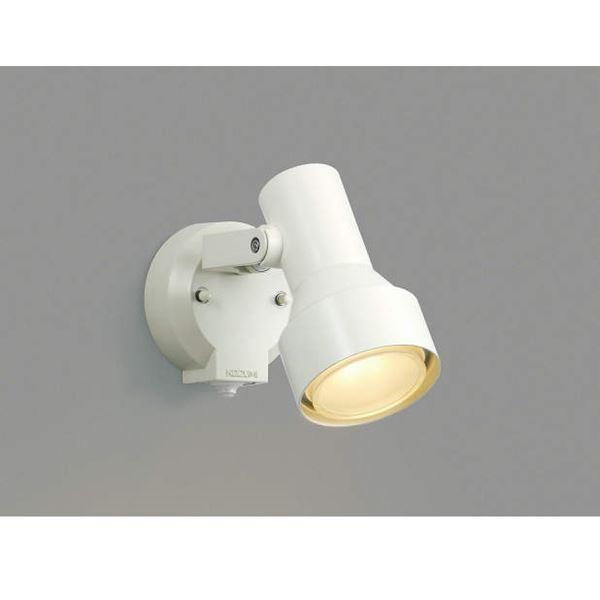 コイズミ フットライト タイマー付ON/OFFタイプ AU40621L 人感センサ付 『スポットライト エクステリア照明 ライト』 オフホワイト