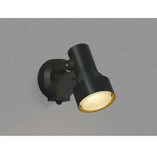 コイズミ フットライト タイマー付ON/OFFタイプ AU40622L 人感センサ付 『スポットライト エクステリア照明 ライト』 黒色