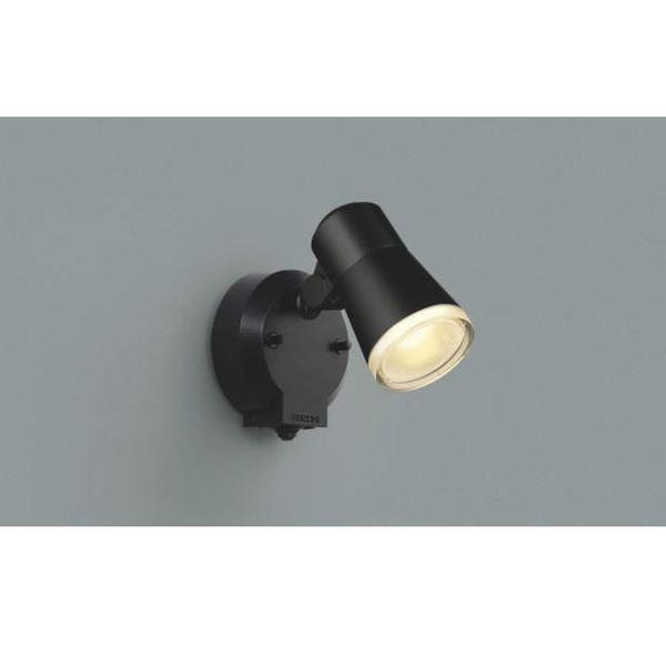 コイズミ フットライト タイマー付ON/OFFタイプ AUE640554 人感センサ付 『スポットライト エクステリア照明 ライト』 黒色