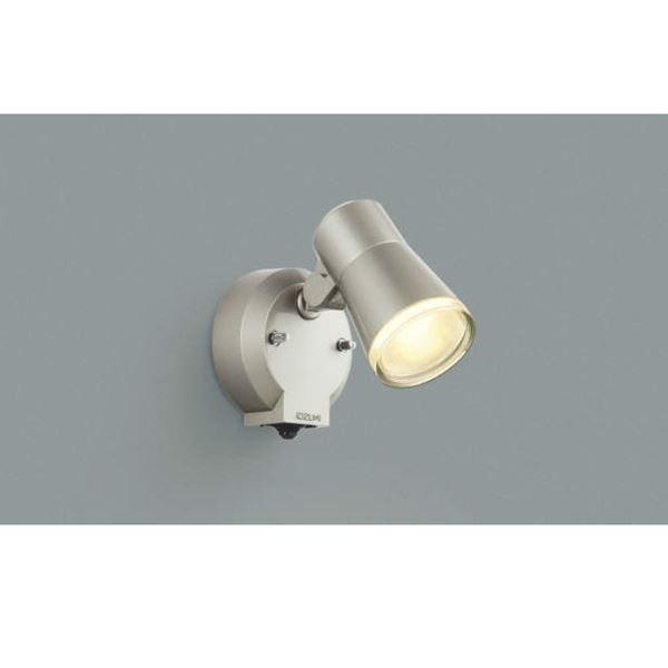 コイズミ フットライト タイマー付ON/OFFタイプ AUE640556 人感センサ付 『スポットライト エクステリア照明 ライト』 ウォームシルバー