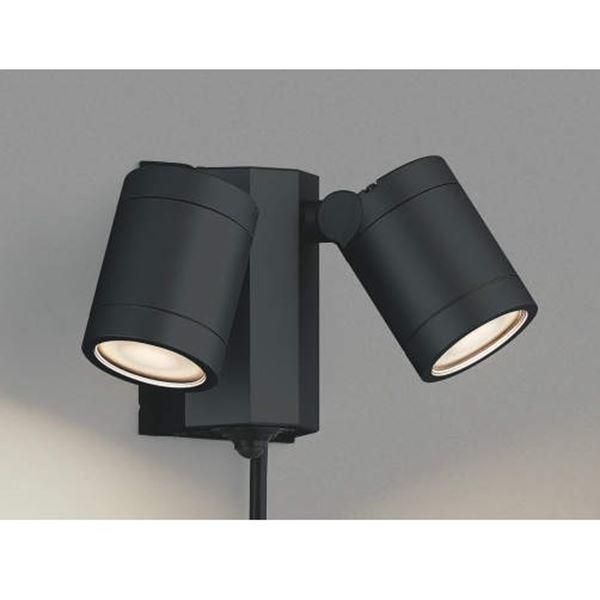 コイズミ スポットライト タイマーON/OFFタイプ AU43205L 人感センサ付 『スポットライト エクステリア照明 ライト』 黒色