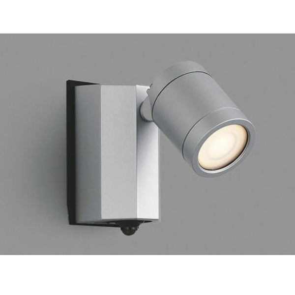 コイズミ スポットライト タイマーON/OFFタイプ AU43324L 人感センサ付 『スポットライト エクステリア照明 ライト』 シルバーメタリック