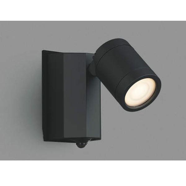 コイズミ スポットライト タイマーON/OFFタイプ AU43323L 人感センサ付 『スポットライト エクステリア照明 ライト』 黒色