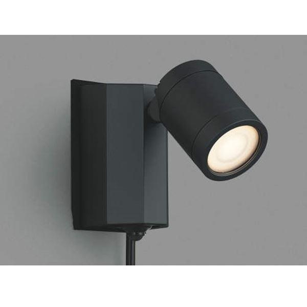 コイズミ スポットライト タイマーON/OFFタイプ AU43207L 人感センサ付 『スポットライト エクステリア照明 ライト』 黒色