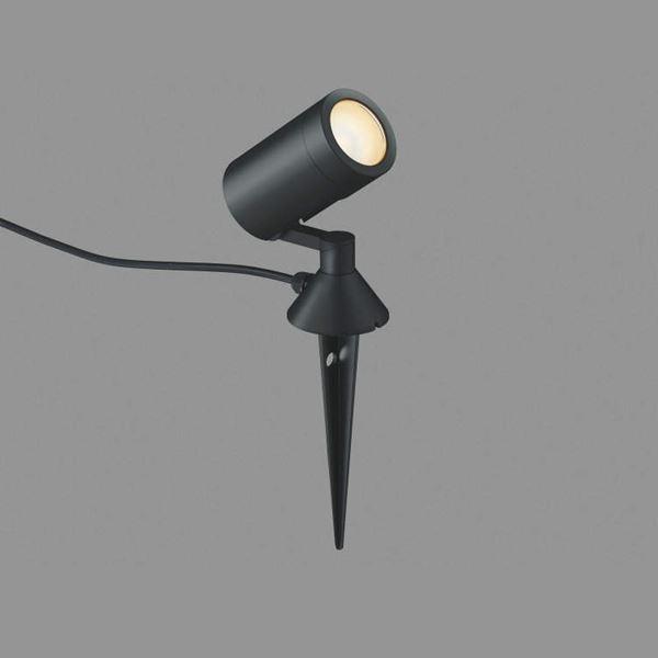 コイズミ スパイクスポットライト  AU42387L 拡散 『スポットライト エクステリア照明 ライト』 黒色