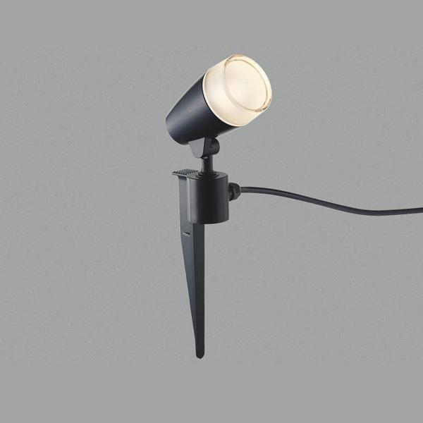 コイズミ スパイクスポットライト  AU43186L  『スポットライト エクステリア照明 ライト』 黒色