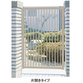 三協アルミ 形材門扉末広2型 0812 片開き門柱タイプ 『キロ特別企画!鍵付き錠に無料で変更可能です』