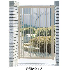 三協アルミ 形材門扉末広2型 0912 片開き門柱タイプ 『キロ特別企画!鍵付き錠に無料で変更可能です』