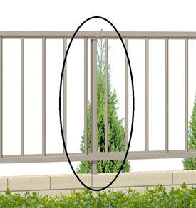 三協アルミ リーズナブルなアルミ形材フェンス 日本メーカー新品 形材フェンス マイエリア2 自在柱 柵 H800用 受注生産品 JFP3-08 アルミフェンス