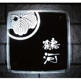 オンリーワン LED 込 フュージングガラス表札 AG1-LED02 『表札 サイン 戸建』