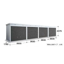『配送は関東・東海限定』イナバ物置 FXN/シャッター連続型 FXN-50HYL 床タイプ 一般型・追加棟(棚板3段付) *追加棟施工には基本棟の別途購入が必要です