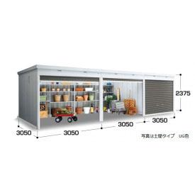『配送は関東・東海限定』イナバ物置 FXN/シャッター連続型 FXN-95HYL 床タイプ 一般型・追加棟(棚板3段付) *追加棟施工には基本棟の別途購入が必要です