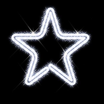 タカショー MKイルミネーション 2Dモチーフ ペントール MKJ-025W 『エクステリア照明 ライト』 白