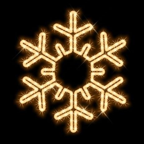 タカショー MKイルミネーション 2Dモチーフ スノーフレーク MKJ-236C 『エクステリア照明 ライト』 電球色