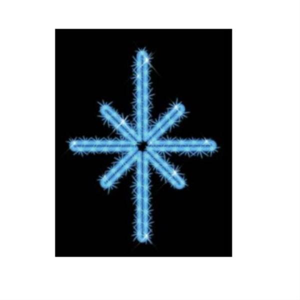 タカショー MKイルミネーション 2Dモチーフ ポラリス MKJ-016B 『エクステリア照明 ライト』 青