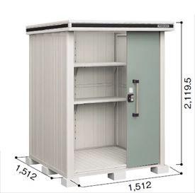 ヨドコウ LMD/エルモ LMD-1515 物置 一般・積雪共用型 標準高タイプ 『追加金額で工事も可能』 『屋外用中型・大型物置』 エバーグリーン