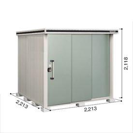 ヨドコウ LMD/エルモ LMD-2222 物置 一般型 標準高タイプ 『追加金額で工事も可能』 『屋外用中型・大型物置』 エバーグリーン