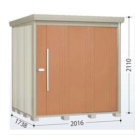 タクボ物置 ND/ストックマン ND-2017 一般型 標準屋根 『追加金額で工事可能』 『収納庫 倉庫 屋外 中型 大型』 トロピカルオレンジ