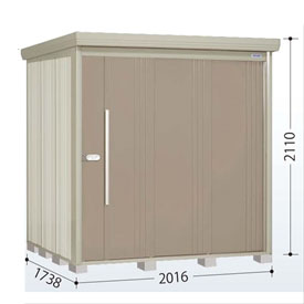 タクボ物置 ND/ストックマン ND-Z2017 一般型 結露減少屋根 『追加金額で工事も可能』 『屋外用中型・大型物置』 カーボンブラウン