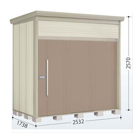 タクボ物置 JN/トールマン JN-S2517 多雪型 標準屋根 『追加金額で工事も可能』 『屋外用中型・大型物置』 カーボンブラウン