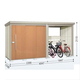 タクボ物置 TP/ストックマンプラスアルファ TP-S40R15 多雪型 標準屋根 『追加金額で工事も可能』 『駐輪スペース付 屋外用 物置 自転車収納 におすすめ』 トロピカルオレンジ