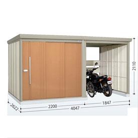タクボ物置 TP/ストックマンプラスアルファ TP-Z40R26 一般型 結露減少屋根  『駐輪スペース付 屋外用 物置 自転車収納 におすすめ』 トロピカルオレンジ
